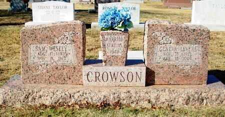 CROWSON, SAM WESLEY - Lubbock County, Texas | SAM WESLEY CROWSON - Texas Gravestone Photos