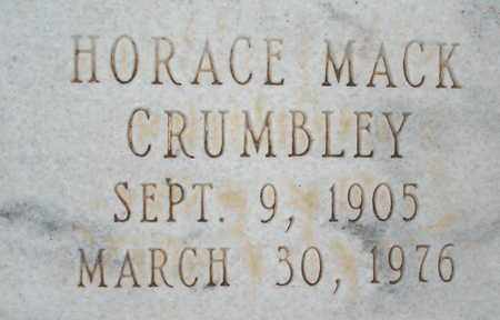 CRUMBLEY (CLOSE UP), HORACE MACK - Lubbock County, Texas | HORACE MACK CRUMBLEY (CLOSE UP) - Texas Gravestone Photos