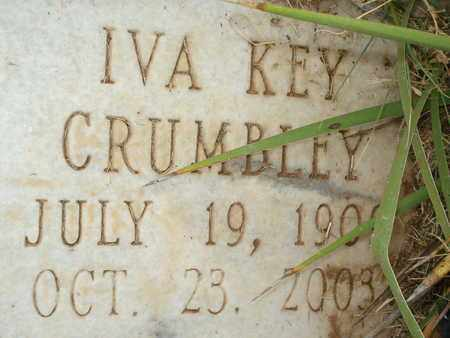 KEY CRUMBLEY (CLOSE UP), IVA CLARK - Lubbock County, Texas | IVA CLARK KEY CRUMBLEY (CLOSE UP) - Texas Gravestone Photos