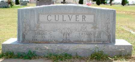 CULVER, BIRDIE CATHERINE - Lubbock County, Texas | BIRDIE CATHERINE CULVER - Texas Gravestone Photos