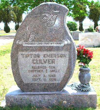 CULVER, TIPTON EMERSON - Lubbock County, Texas | TIPTON EMERSON CULVER - Texas Gravestone Photos