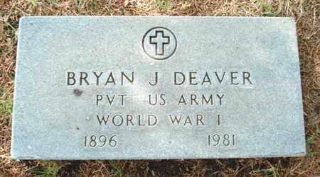 DEAVER (VETERAN WWI), BRYAN J - Lubbock County, Texas | BRYAN J DEAVER (VETERAN WWI) - Texas Gravestone Photos