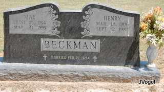 BECKMAN, MAE - Montague County, Texas | MAE BECKMAN - Texas Gravestone Photos