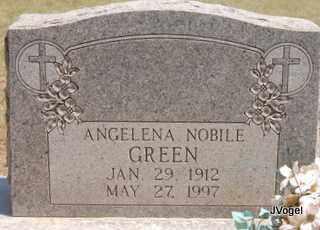 NOBILE GREEN, ANGELENA - Montague County, Texas   ANGELENA NOBILE GREEN - Texas Gravestone Photos
