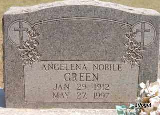 NOBILE GREEN, ANGELENA - Montague County, Texas | ANGELENA NOBILE GREEN - Texas Gravestone Photos