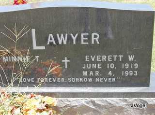 LAWYER, EVERETT W - Montague County, Texas | EVERETT W LAWYER - Texas Gravestone Photos