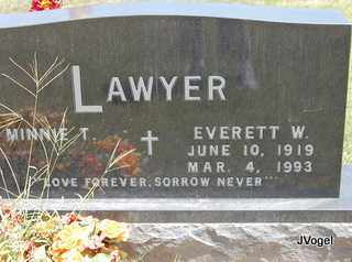LAWYER, EVERETT W - Montague County, Texas | EVERETT W LAWYER - Texas Gravestone Photos
