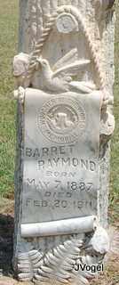 RAYMOND, BARRET - Montague County, Texas | BARRET RAYMOND - Texas Gravestone Photos