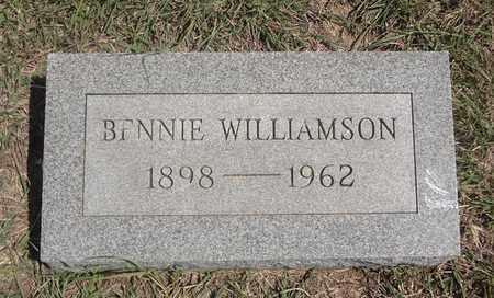 WILLIAMSON, BENNIE - Montague County, Texas | BENNIE WILLIAMSON - Texas Gravestone Photos