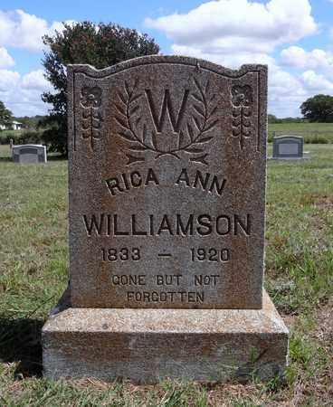 WILLIAMSON, RICA ANN - Montague County, Texas | RICA ANN WILLIAMSON - Texas Gravestone Photos