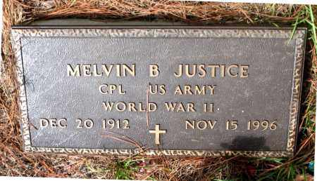 JUSTICE (VETERAN WWII), MELVIN  B. - Montgomery County, Texas | MELVIN  B. JUSTICE (VETERAN WWII) - Texas Gravestone Photos