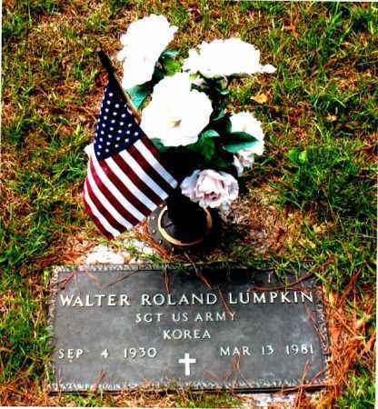 LUMPKIN (VETERAN KOR), WALTER  ROLAND - Montgomery County, Texas   WALTER  ROLAND LUMPKIN (VETERAN KOR) - Texas Gravestone Photos
