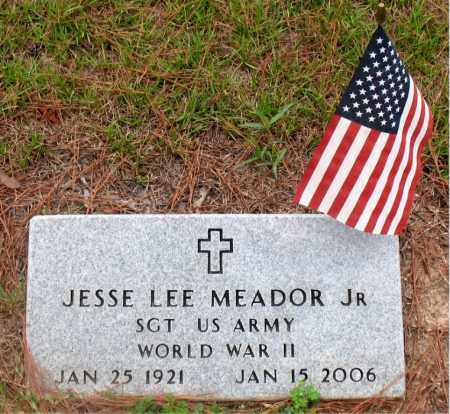 MEADOR, JR (VETERAN WWII), JESSE  LEE  - Montgomery County, Texas | JESSE  LEE  MEADOR, JR (VETERAN WWII) - Texas Gravestone Photos