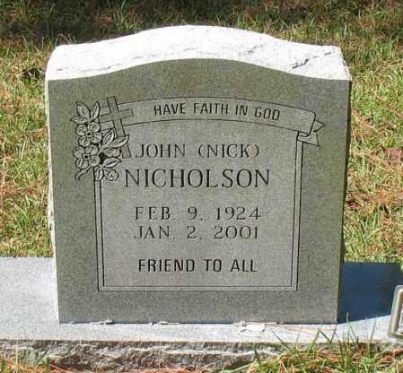 "NICHOLSON, JOHN  ""NICK"" - Montgomery County, Texas | JOHN  ""NICK"" NICHOLSON - Texas Gravestone Photos"