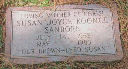SANBORN, SUSAN  JOYCE - Montgomery County, Texas | SUSAN  JOYCE SANBORN - Texas Gravestone Photos