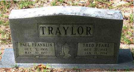 TRAYLOR, PAUL FRANKLIN - Montgomery County, Texas | PAUL FRANKLIN TRAYLOR - Texas Gravestone Photos