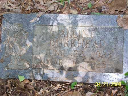 BURKHEAD, ALLINE - Morris County, Texas   ALLINE BURKHEAD - Texas Gravestone Photos
