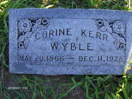 KERR WYBLE, ANNIE CORINE - Orange County, Texas | ANNIE CORINE KERR WYBLE - Texas Gravestone Photos