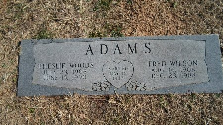 WOODS ADAMS, THESLIE - Parker County, Texas | THESLIE WOODS ADAMS - Texas Gravestone Photos