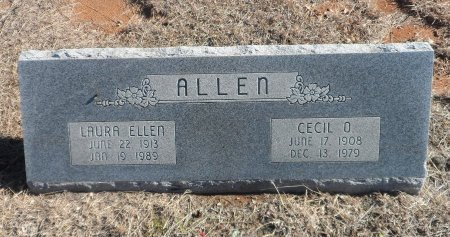 ALLEN, LAURA ELLEN - Parker County, Texas | LAURA ELLEN ALLEN - Texas Gravestone Photos