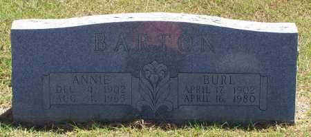 BARTON, ANNIE - Parker County, Texas | ANNIE BARTON - Texas Gravestone Photos
