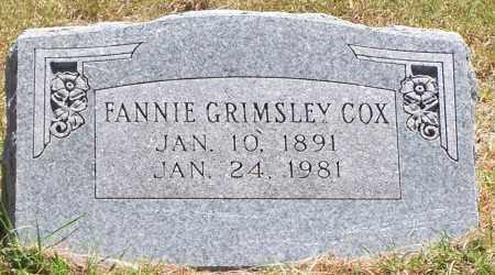 GRIMSLEY COX, FANNIE - Parker County, Texas   FANNIE GRIMSLEY COX - Texas Gravestone Photos