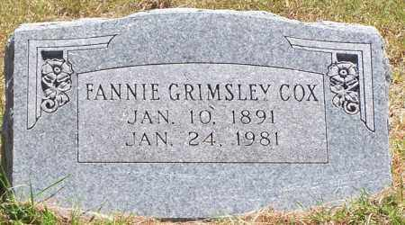 GRIMSLEY COX, FANNIE - Parker County, Texas | FANNIE GRIMSLEY COX - Texas Gravestone Photos