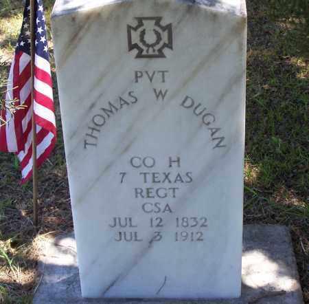 DUGAN (VETERAN CSA), THOMAS W - Parker County, Texas   THOMAS W DUGAN (VETERAN CSA) - Texas Gravestone Photos