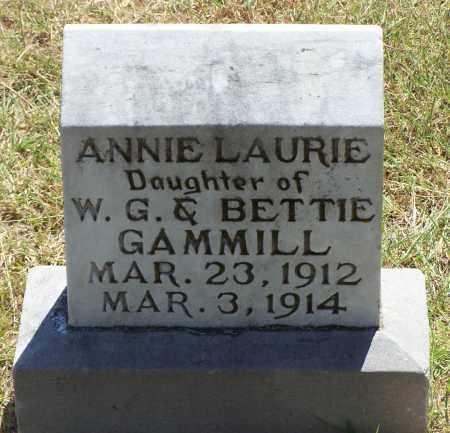 GAMMILL, ANNIE LAURIE - Parker County, Texas   ANNIE LAURIE GAMMILL - Texas Gravestone Photos