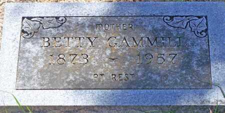GAMMILL, BETTY - Parker County, Texas   BETTY GAMMILL - Texas Gravestone Photos