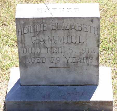 GAMMILL, HETTIE ELIZABETH - Parker County, Texas | HETTIE ELIZABETH GAMMILL - Texas Gravestone Photos
