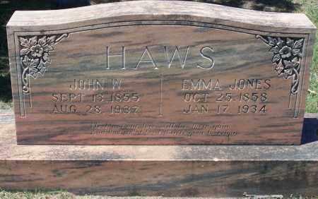 HAWS, JOHN W - Parker County, Texas | JOHN W HAWS - Texas Gravestone Photos