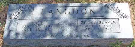 LANGDON, BESSIE - Parker County, Texas | BESSIE LANGDON - Texas Gravestone Photos