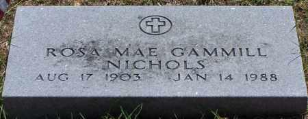 GAMMILL NICHOLS, ROSA MAE - Parker County, Texas | ROSA MAE GAMMILL NICHOLS - Texas Gravestone Photos