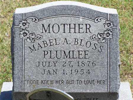 BLOSS PLUMLEE, MABEL A - Parker County, Texas | MABEL A BLOSS PLUMLEE - Texas Gravestone Photos