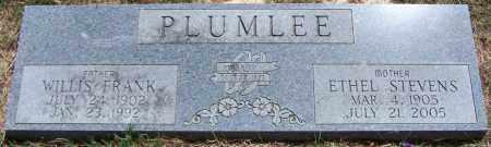 PLUMLEE, WILLIS FRANK - Parker County, Texas | WILLIS FRANK PLUMLEE - Texas Gravestone Photos