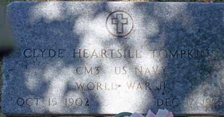 TOMPKINS (VETERAN WWII), CLYDE HEARTSILL - Parker County, Texas | CLYDE HEARTSILL TOMPKINS (VETERAN WWII) - Texas Gravestone Photos