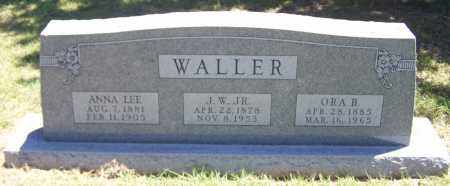 WALLER, ORA B - Parker County, Texas | ORA B WALLER - Texas Gravestone Photos