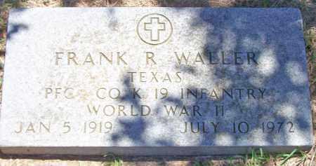 WALLER (VETERAN WWII), FRANK R - Parker County, Texas | FRANK R WALLER (VETERAN WWII) - Texas Gravestone Photos