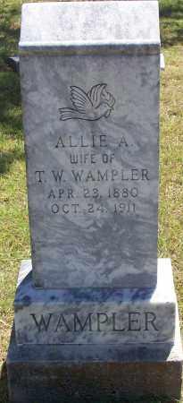 WAMPLER, ALLIE A - Parker County, Texas | ALLIE A WAMPLER - Texas Gravestone Photos