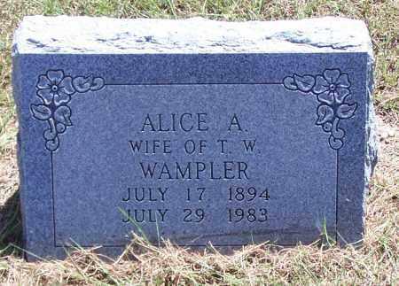 WAMPLER, ALICE A - Parker County, Texas | ALICE A WAMPLER - Texas Gravestone Photos