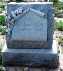 GALLOWAY, THOMAS - Pecos County, Texas | THOMAS GALLOWAY - Texas Gravestone Photos