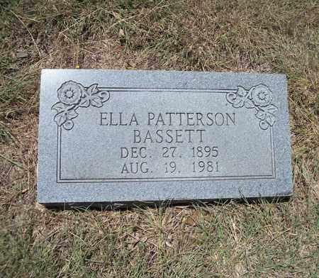 PATTERSON BASSETT, ELLA EDNA - Real County, Texas | ELLA EDNA PATTERSON BASSETT - Texas Gravestone Photos