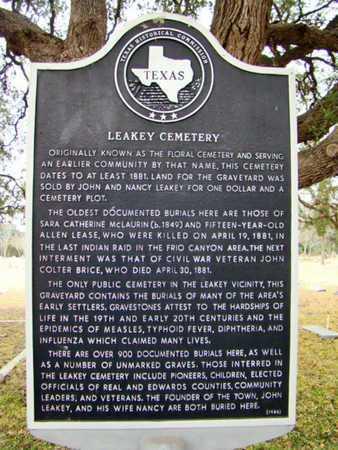 *HISTORIC MARKER,  - Real County, Texas |  *HISTORIC MARKER - Texas Gravestone Photos