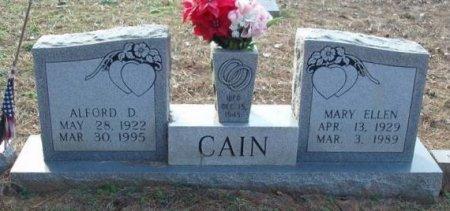 CAIN, MARY ELLEN - Red River County, Texas   MARY ELLEN CAIN - Texas Gravestone Photos