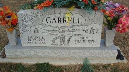 CARRELL, JOHN F (2ND) - Red River County, Texas | JOHN F (2ND) CARRELL - Texas Gravestone Photos