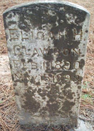 CLAWSON, ELIGAH H - Red River County, Texas | ELIGAH H CLAWSON - Texas Gravestone Photos