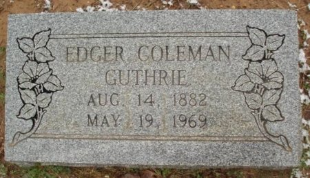GUTHRIE, EDGER COLEMAN - Red River County, Texas | EDGER COLEMAN GUTHRIE - Texas Gravestone Photos
