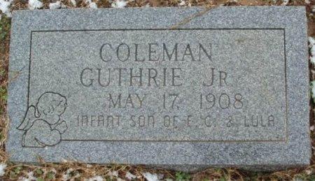 GUTHRIE, JR, COLEMAN - Red River County, Texas | COLEMAN GUTHRIE, JR - Texas Gravestone Photos