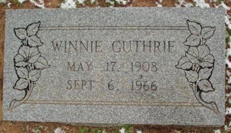 GUTHRIE, WINNIE - Red River County, Texas | WINNIE GUTHRIE - Texas Gravestone Photos